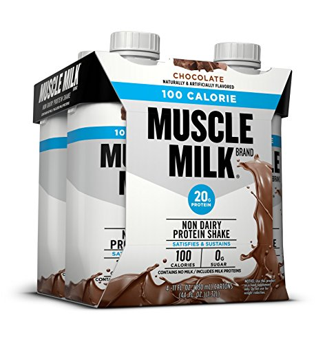 Muscle Milk 100 Calorie Protein Shake, Chocolate, 20g Protein, 11 FL OZ, 4 count