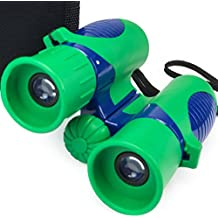 Verb Gear Best Binoculars for Kids in Green and Blue with 8X21 Magnification Durable Shock Proof Compact Foldable Binocular Kit for Boys and Girls