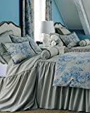 Ds Natural Toned Organic Linen Skirted Bed Spread King & Queen Size with 30'' Gathered Drop (78''W X 80''L X 30'' Drop)