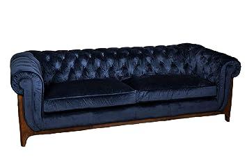 Peppermill Interiors Velvet Chesterfield Sofa Velvet Buttoned Couch