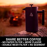 French Press Coffee Maker with Travel Bag by