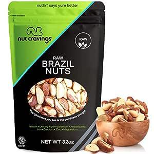 Fresh Raw Brazil Nuts, No Shell, Whole, Superior to Organic (32oz - 2 Pound, Resealble Bag) - Healthy Snack Food Mix, Rich in Protien & Selenium - Keto Friendly, Vegan, Gluten Free, Kosher