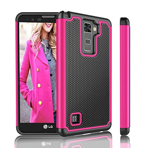 LG Stylus 2 Case, 2016 LG G Stylo 2 Case, Tinysaturn(TM) [Ysaturn Series] Shock Absorbing Rugged Hard Shell Rubber Against Scratches Cover Case For LG LS775 L82VL L81VL / LG Stylus 2V [Rose / Black] Review