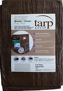 Kotap 12-ft x 16-ft Reversible Brown/Green Poly Tarp, Item: TBG-1216