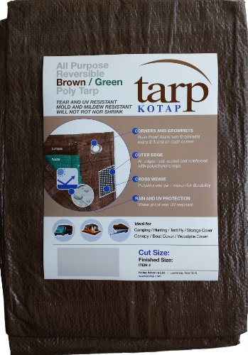 Kotap 20-ft x 40-ft Reversible Brown/Green Poly Tarp, Item: TBG-2040