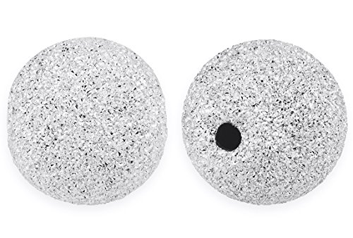 10 Pieces Sterling Silver Round Stardust Spacer Bead 10 (10 Mm Stardust Beads)