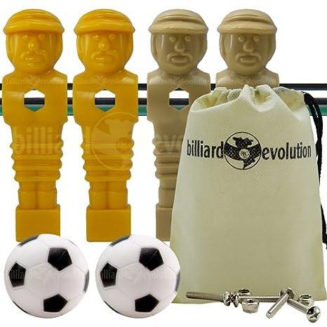 4 marrón y amarillo torneo estilo futbolín Hombres y 2 pelotas de ...