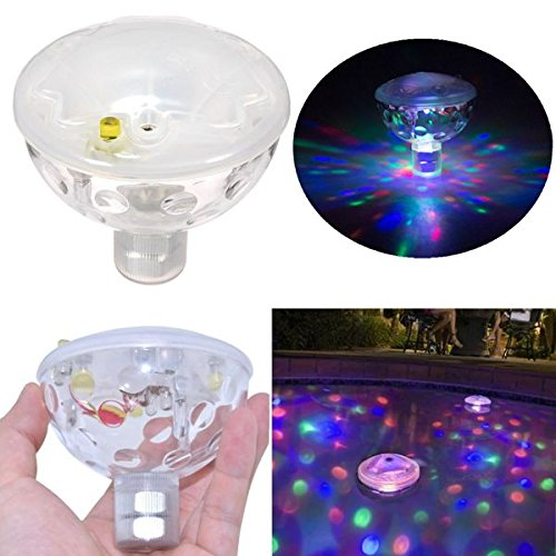 Hitommy Floating Under Water LED Disco AquaGlow Light Show Swimming Pool Hot Tub Spa Lamp