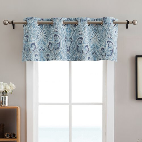 Winston Porter Gillot Paisley Blackout Grommet 50'' Window Valance from Unknown
