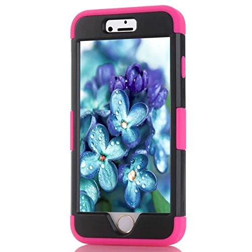 IPhone 6 hülle,iPhone 6S hülle,Lantier [weicher harter Tough Case] ??Designer Kristallbling Hybrid Rüstungs Kasten Abdeckung für Apple Iphone 6 6S Schwarz + Pink