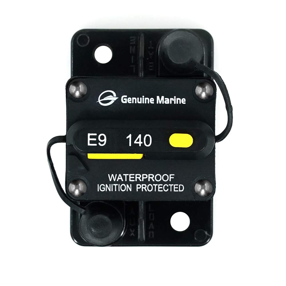 Ocean River 140 Amp Waterproof Circuit Breaker with Manual Reset Suitable for Motor Auto Car Marine Boat Bike Stereo Audio 12V-24V DC(140A)