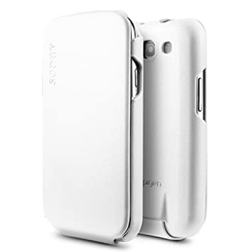 cheap for discount 38f6b be584 Spigen Argos Leather Case for Samsung Galaxy S3 White