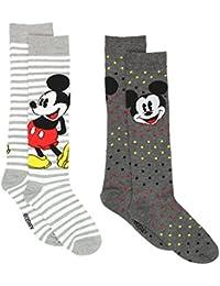 Mickey Mouse Womens 2 pack Socks (Big Kid/Teen/Adult)