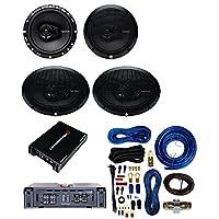 Cerwin-Vega XED7600.4 Amplifier With Rockford Fosgate 6 x 9 Inch 3-Way Full-Range Coaxial Speaker(Pair)+6.5-Inch Full-Range 3-Way Coaxial Speaker (Pair)+ 4 Gauge AMP Kit Cache Bundle