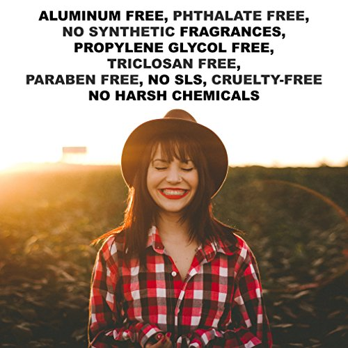 Natural Unscented Deodorant Stick (that works!) Aluminum Free Underarmed For Women & Men - Stay Fresh All Day - Organic, Healthy, Safe, Non Toxic - Phthalate, Paraben, Gluten & Cruelty Free by Super Natural Goods (Image #3)'