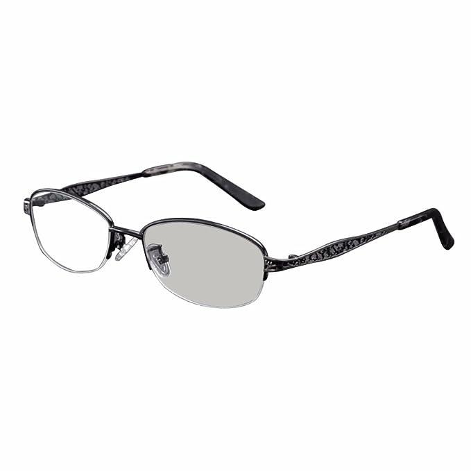 Transizione fotocromatica progressive multi Focus occhiali da lettura nessuna linea graduale + RX lungimirante donne UV400 occhiali da sole (+2.75, rosa)