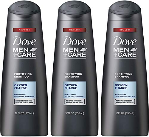 Fortifying Care - Dove Men+Care Fortifying Shampoo, Oxygen Charge, 12 Ounce (Pack of 3)