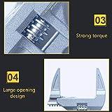 SANGDA Adjustable Wrench, Short Shank Large Opening