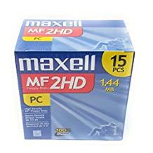 Consumer Electronic Products Maxell 3.5 HD 1.44MB Pre-Formatted MF2HD 15 Pack