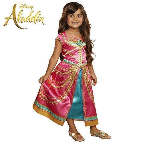 Disney Aladdin Jasmine Dress Costume Pink Fuchsia Outfit -