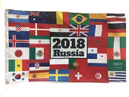 WindStrong® 3x5 FT Soccer World Flag 2018 Russia 32 Countri