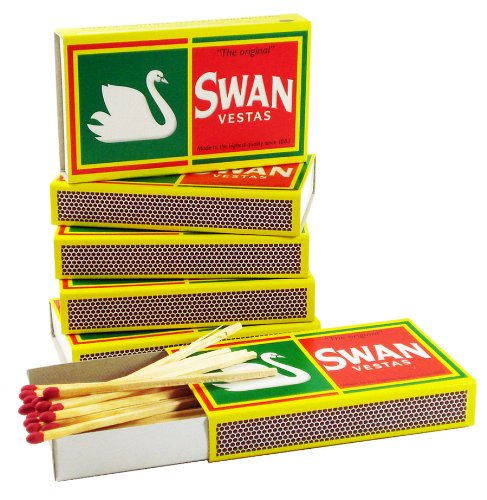 (6) Boxes of Swan Vestas Matches