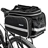 fjqxz Campstoor Mountain Bike Bag 600D multi-functional Oxford Waterproof Bicycle Bag Cycling Rear Seat Trunk Bag Panniers Bicycle Accessories (Black)