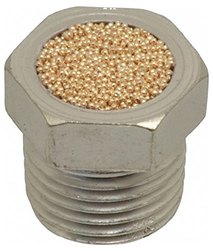 1/8 Male NPT, 7/16'' Hex, 7/16'' OAL, Breather Vent 150 Max psi, Bronze by Jupiter Pneumatics
