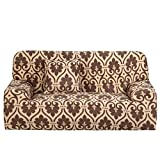 uxcell Stretch Sofa Cover Loveseat Couch Slipcover, Machine Washable, Stylish Furniture Protector with One Cushion Case (2 Seater, Style 1)