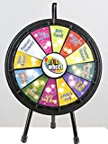 Marketing Holders - Mini Prize Wheel - Black WITH CASE- Black Frame Great For Fundraisings Tradeshow Games 63207