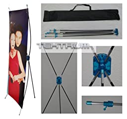 TEKTRUM 24 X 63 Inches Tripod X Banner Stand for Trade Show/Store Display