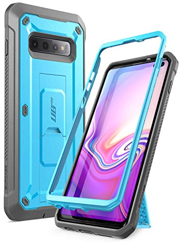 SUPCASE Unicorn Beetle Pro Series Designed for Samsung Galaxy  Full-Body Dual Layer Rugged with Holster & Kickstand Without Built-in Screen Protector (Blue) - Fits S10 Plus Case (2019 Release)