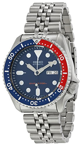 Marine Stainless Steel Wrist Watch - Seiko Men's SKX009K2 Diver's Analog Automatic Stainless Steel Watch