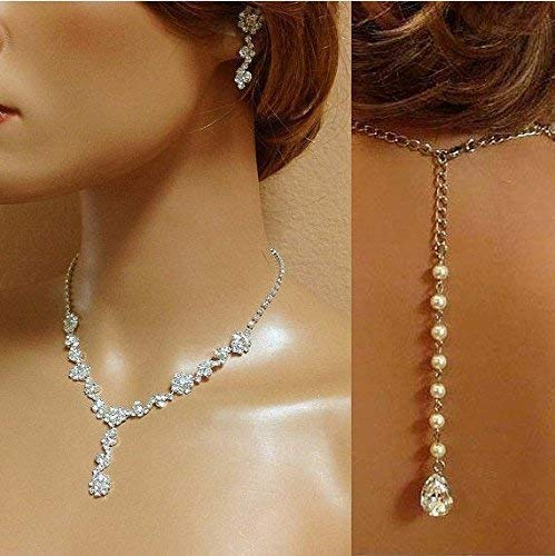 bridal jewelry set backdrop Crystal bridesmaid Jewelry Set by Glam Duchess