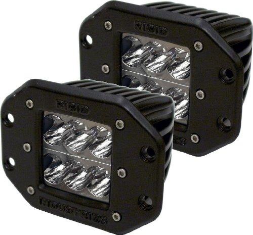 (Rigid Industries 51211 D2 Wide LED LightFlush Mount, (Set of 2))