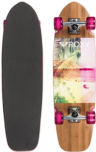 Roxy Tropical Secret Longboard Skateboard - Magenta