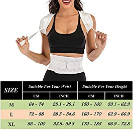 Back Brace Posture Corrector, Adjustable Full Back Support for Straight Back, Relieve Upper and Lower Back Pain, Back Brace for Women and Men