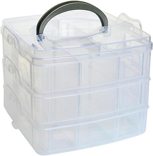 Creazy Clear Plastic Craft Beads Jewellery Storage Organizer Tool Box Case Storage Organizer Hot pink