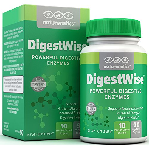 Digestive Enzymes - 1 Before Each Meal See How Good You Feel - DigestWise, Gold Standard of Digestive Enzyme Supplements - 10 Enzymes - Proteolytic - Vegan - Gluten-Free - with Lipase Lactase Amylase