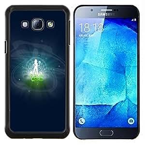 YiPhone /// Prima de resorte delgada de la cubierta del caso de Shell Armor - Virgo Signo del Zodiaco - Samsung Galaxy A8 A8000