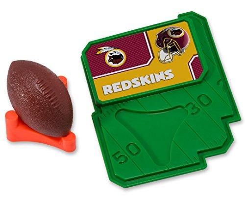 (CAKEMAKE NFL Football & Tee, Cake Topper, Washington Redskins)