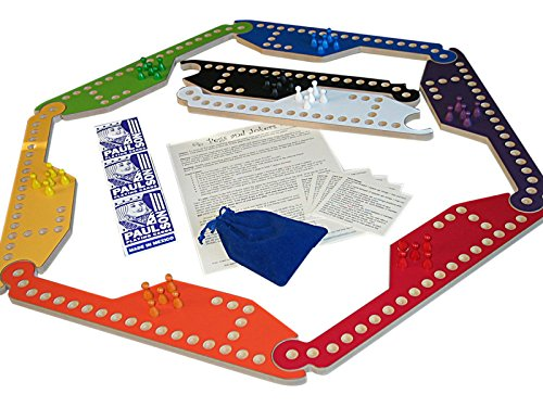 Pegs and Jokers Game for 8-Players by Wizard Woodworks