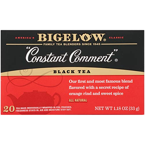 Bigelow Constant Comment Tea 20-Count Boxes (Pack of 6) Caffeinated Individual Black Tea Bags, for Hot Tea or Iced Tea, Drink Plain or Sweetened with Honey or Sugar