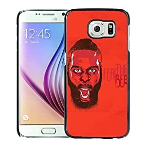 New Custom Design Cover Case For Samsung Galaxy S6 Houston Rockets James Harden 3 Black Phone Case