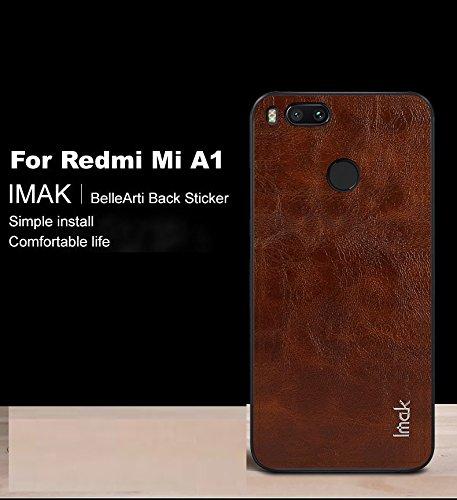 cheap for discount 7ff1c 64a3a Aeetz® Xiaomi Mi A1 Back Screen Protector Sticker [ IMAK BelleArti ] Luxury  Full Cover Protective Film for Xiaomi MiA1 Mi A1 (Brown)