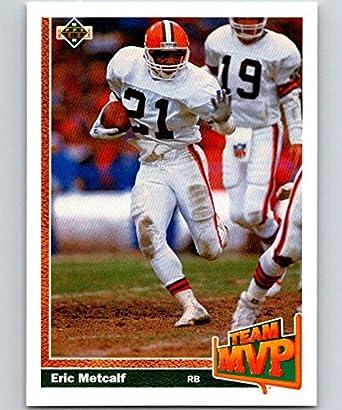 03a6ea862 Amazon.com: 1991 Upper Deck #455 Eric Metcalf Browns TM NFL Football ...