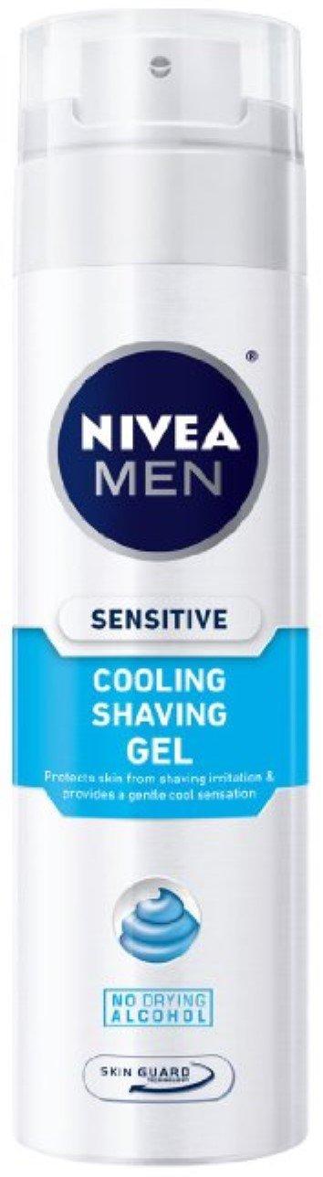 NIVEA FOR MEN Sensitive Cooling Shaving Gel 7 oz (Pack of 3)