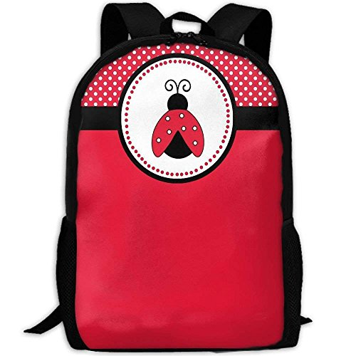 Backpack Cute Red Ladybug Mens Laptop Backpacks Shoulder Bag School Daypack by LoveBea