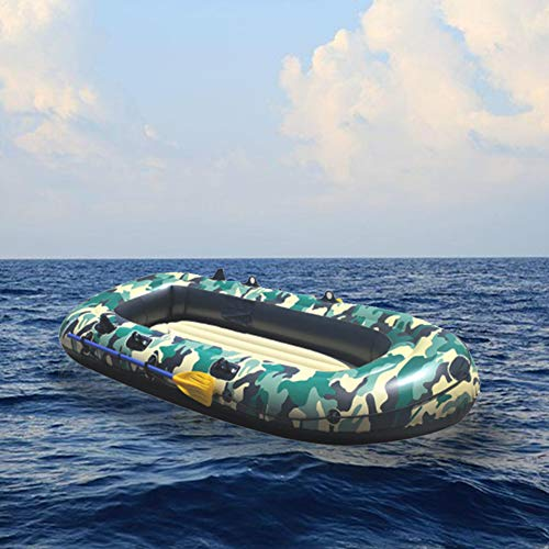 HYYQG Inflatable Kayak,3+1 Person Sea Fishing Kayak Accessories Aluminum Alloy Paddle Air Pump Kit Bottom Plate Bag