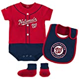 Washington Nationals Majestic Newborn & Infant Tiny Player Bib, Boodie & Bodysuit Set - Red